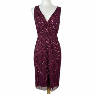Adrianna Papell Sequin Cocktail Dress Size 6 New With Tags